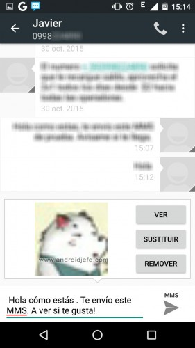 configure android mms send