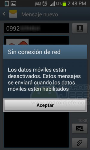 configure android mms offline