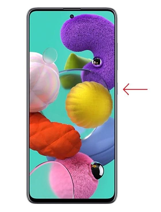 Galaxy A51 power button