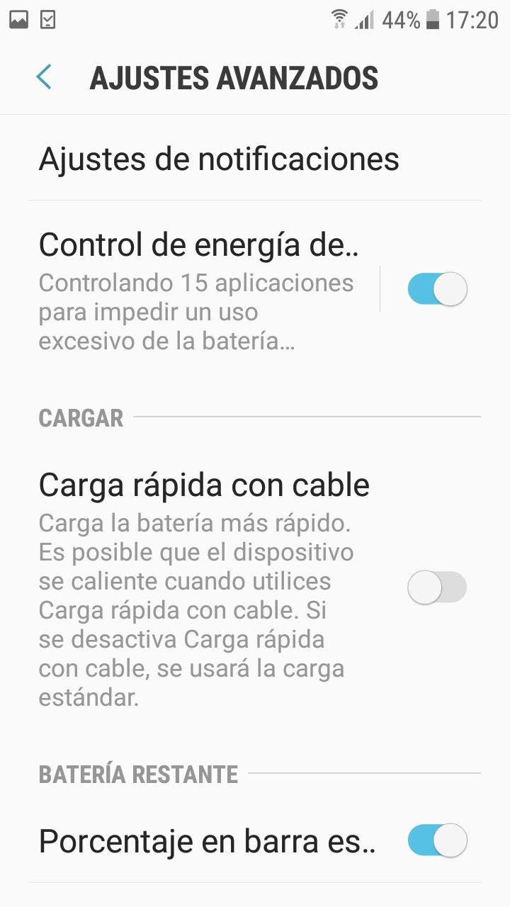 disable fast charging on Samsung
