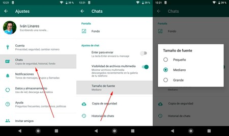 Change Font Size Whatsapp Android