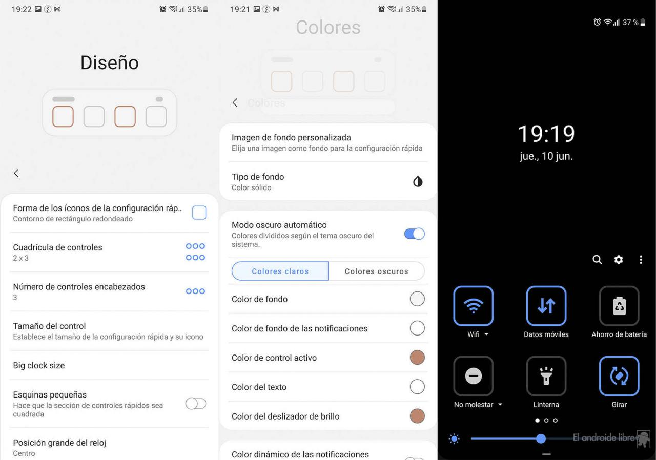 Customizing the quick settings to Android 12